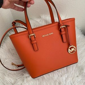 New Michael Kors jet set XS tote Xbody bag